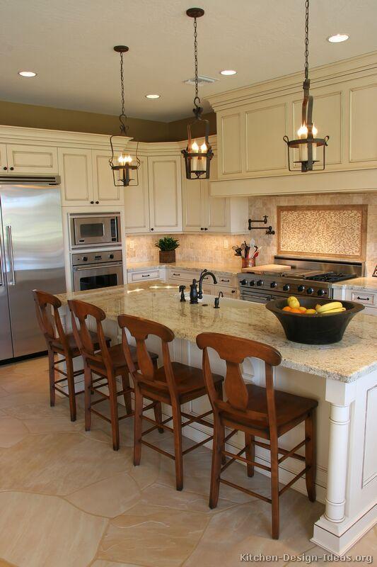 Beautiful Antique White Kitchens