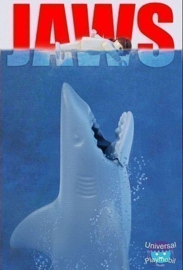 """Richard Unglik """"les dents de la mer"""" Playmobil"""