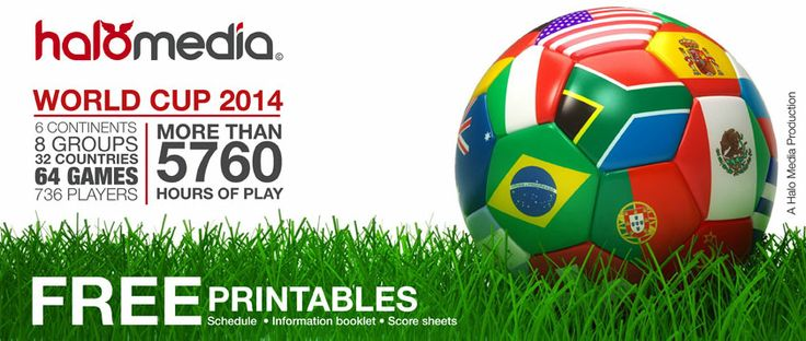 FIFA World Cup 2014 Schedule - free printables #worldcup #free #printables #soccer #football #brasil2014 #fifaworldcup  #