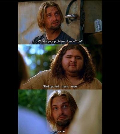 Sawyer & Hurley banter...
