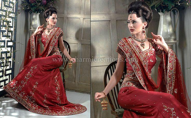 Indian Bridal Wear, Asian Wedding Dress, Designer Bridal Lenghas, Traditional Indian Bride Outfit, London, UK
