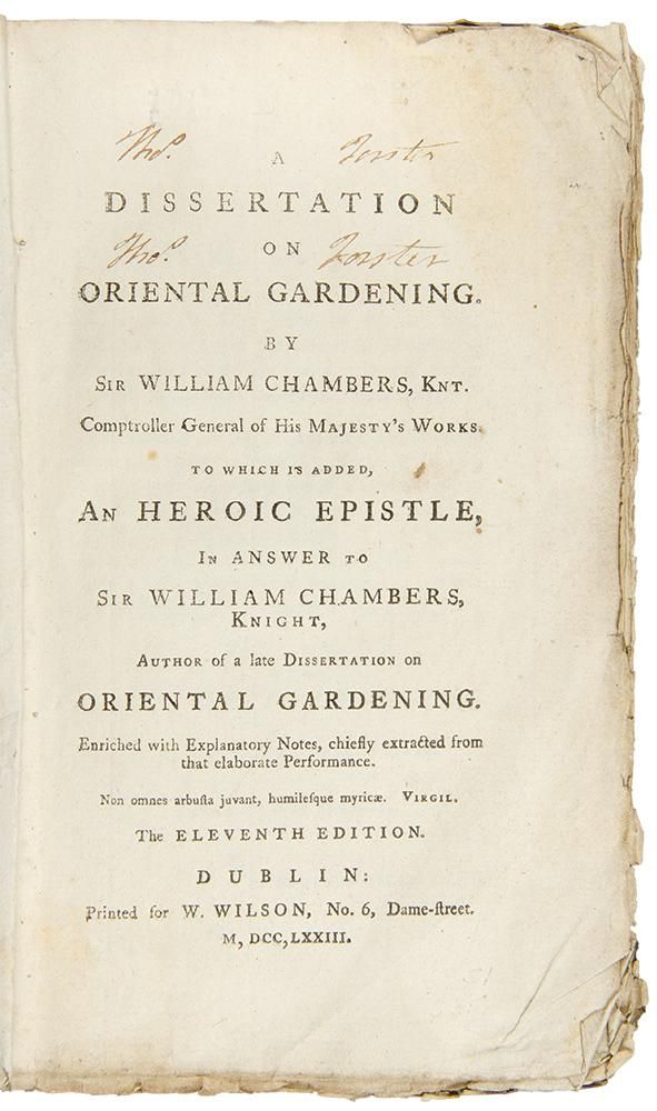 Sir William Chamber For Example In Hi Oeuvre A Dissertation On Oriental Gardening Of 1772 Google Searc Hero Essay Argumentative Topics John Nash Phd Thesi Pdf Length