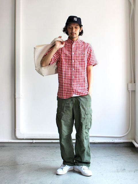maillot Sunset Big Gingham Work S/S Shirts (ビックギンガムワーク・半袖) MAS-059B
