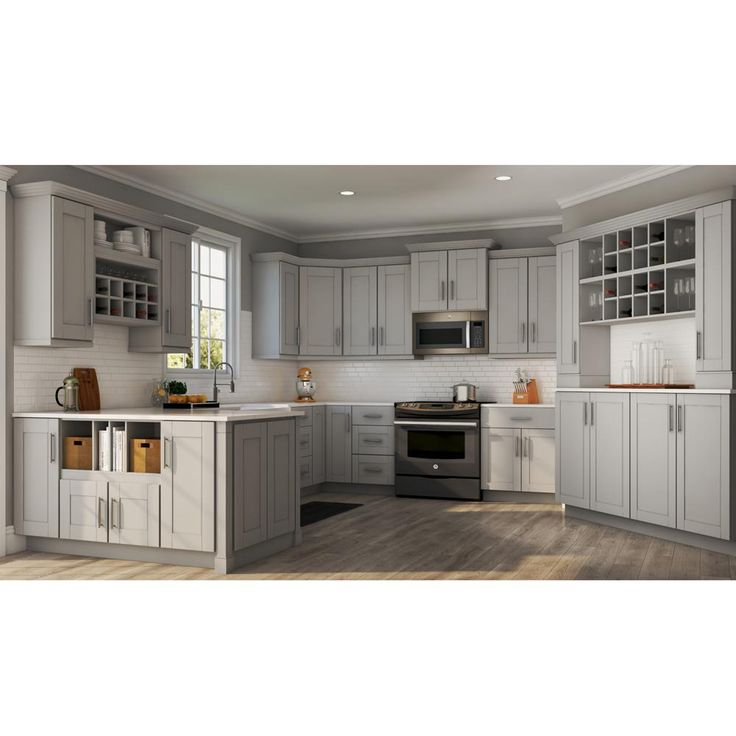 Best Hampton Bay Shaker Assembled 30X30X12 In Wall Kitchen 400 x 300