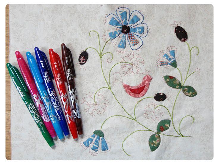Wat is een frixion pen? D.m.v. de punt over het fout getekend of geschreven heen te wrijven verdwijnt de lijn of fout. Geen tipex geknoei op papier. www.loveallcrafts.nl