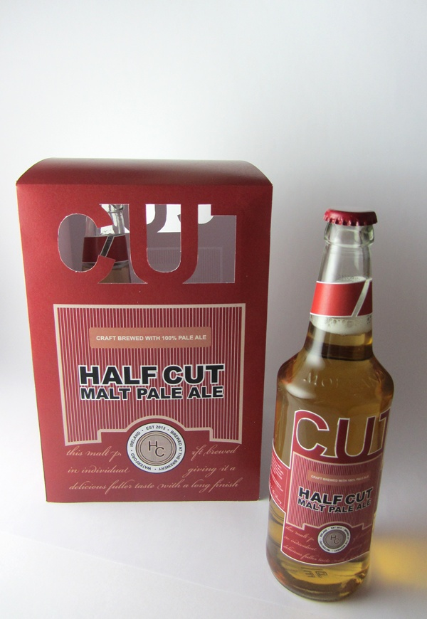 Half Cut Pale Ale Label by Michelle Marks, via Behance