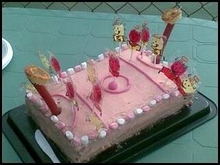 Netball court cake
