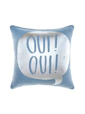 MARIE CLAIRE MINI KIDS BEDDING OUI OUI BLUE CUSHIONS 45 X 45CM