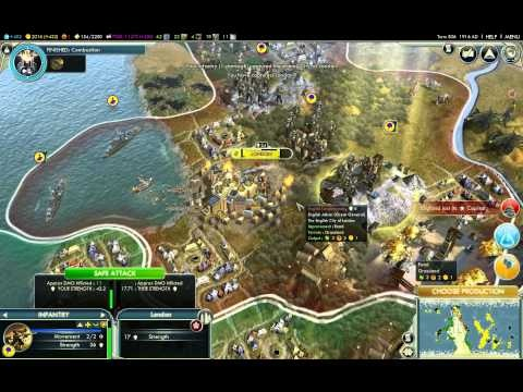 Civilization 5 gameplay.  Lots of interesting GUI stuff for selection, highlighting, borders, etc.