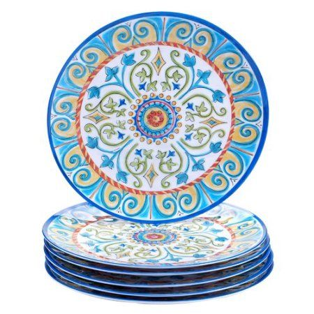 Buy Certified International Tuscany 11'' Melamine Dinner Plate (Set of 6) at Walmart.com