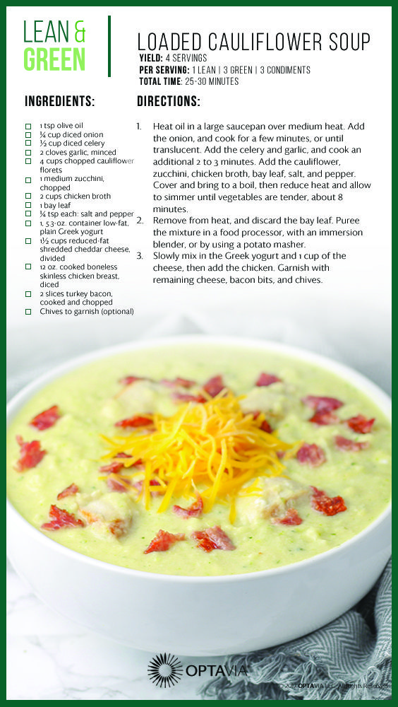 Loaded cauliflower soup low carb