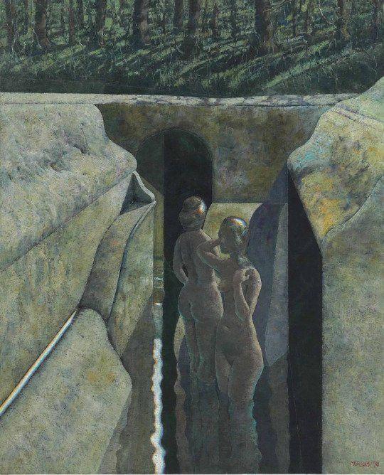 Deux baigneuses, canal (1994) by Armando Morales (Nicaraguan)