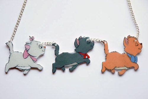 NEED. Jewelry/Necklaces: Disney's The Aristocats - Marie, Berlioz, and Toulouse Necklace
