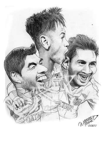 """Uarez Neymar Messi Barcelona"" #Creative #Art in #digital-art @Touchtalent http://bit.ly/Touchtalent-p"
