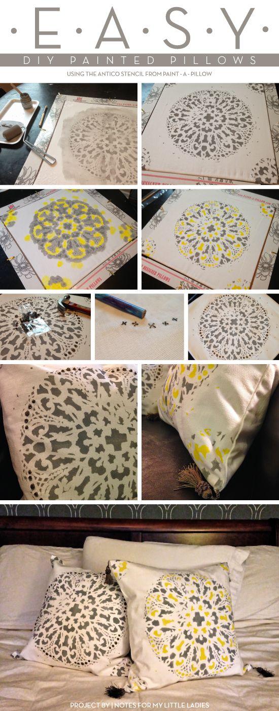 Diy Painted Stencil Bathroom Floor: Best 25+ Stencil Pillow Ideas On Pinterest