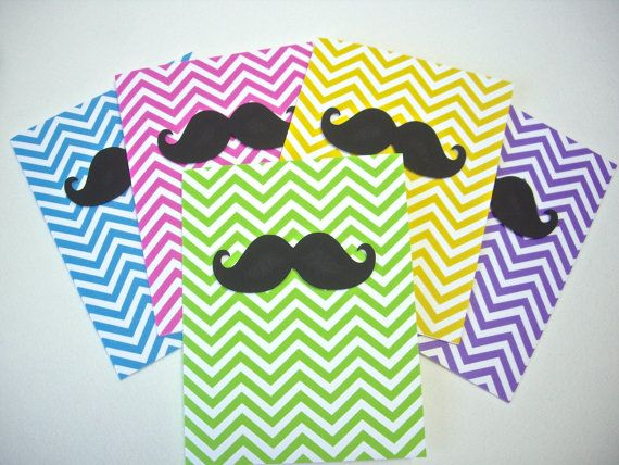mustache cards chevron cards birthday cards by JDooreCreations, $6.25