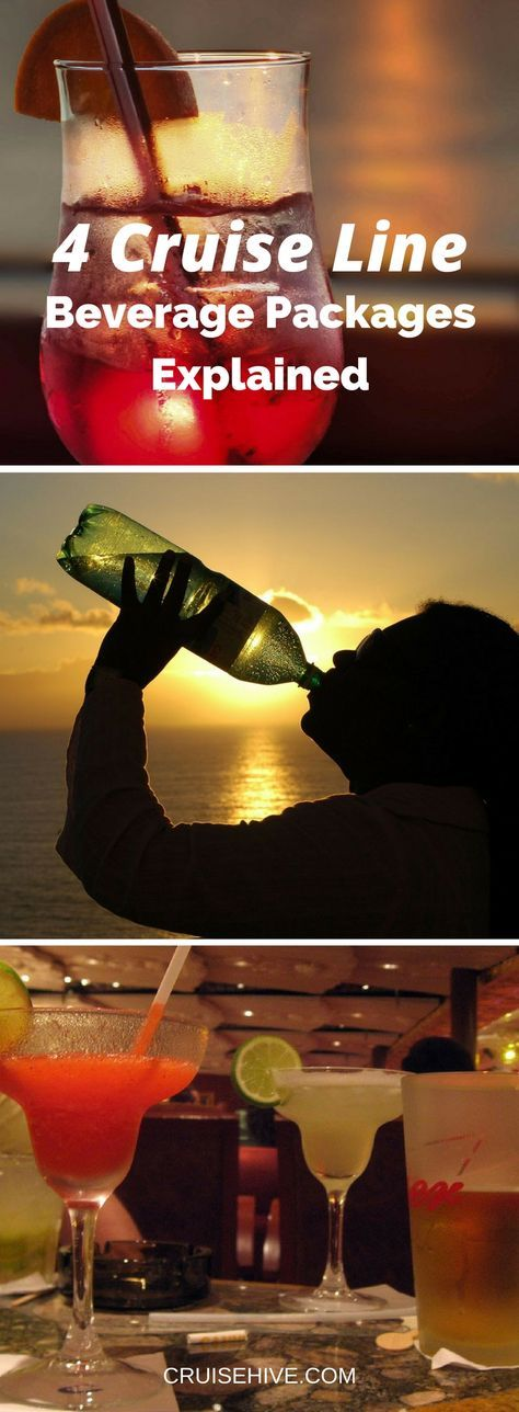 Drink Away! 4 Cruise Line Beverage Packages Explained. #cruise #travel #cruiseships #cruisetips #cruiseline #travelblog #cruising #drink
