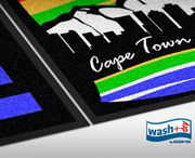 Unique South African Floor mat Culture and City Scape designs from kleen-tex wash+dry range.