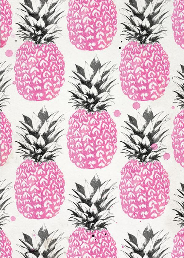 www.lainefraser.com /pink pineapples Pretty sure this is supposed to be scrapbooking paper, but I want it as wallpaper, probably in a small bathroom.