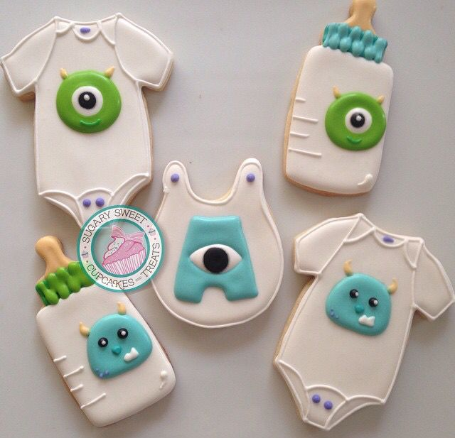 Monster Inc. Baby Decorated Cookies