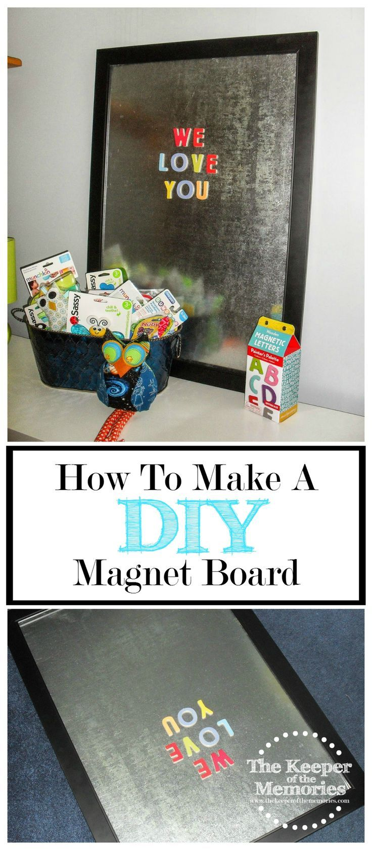 Want to make a DIY magnet board for your little one? Check it out.                                                                                                                                                                                 More