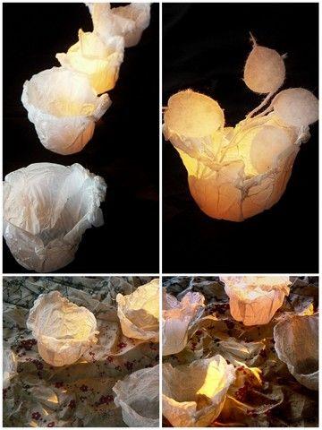 Tout est parti d'effémère qui m'avait envoyé son vase recyclé en sac plastique . l'idée m'a plu. Alors j'ai voulu essayer .... Pas compliqué puisqu'il s'agit de couper un cercle dan sun sac plastique, l'appliquer sur un verre ,une tasse, une coupelle...