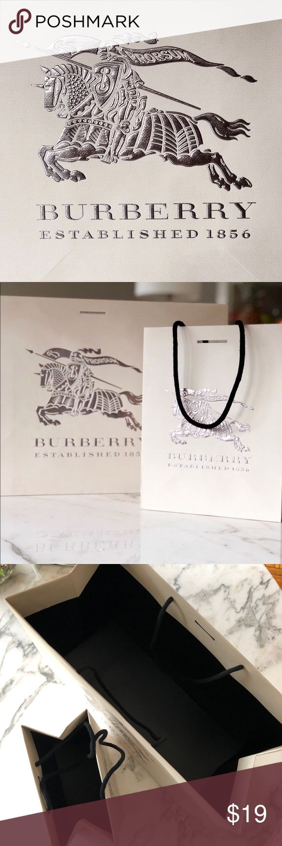 Burberry Authentic Boutique Bags Set of 2 Burberry Shopping Product Bags   No stains, holes, or other damage.   Please ask any questions before you buy. Always open to reasonable offers. Thanks for looking. 😘✌️ Bundle&Save 15% off on 2+ items Burberry Makeup