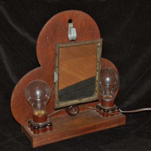 Theater Make Up Mirror Lighted Portable Actor Clown Mime Primitive Actress Early | eBay