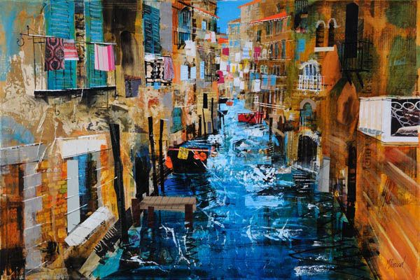 Mike Bernard. Venetian Canal Scene