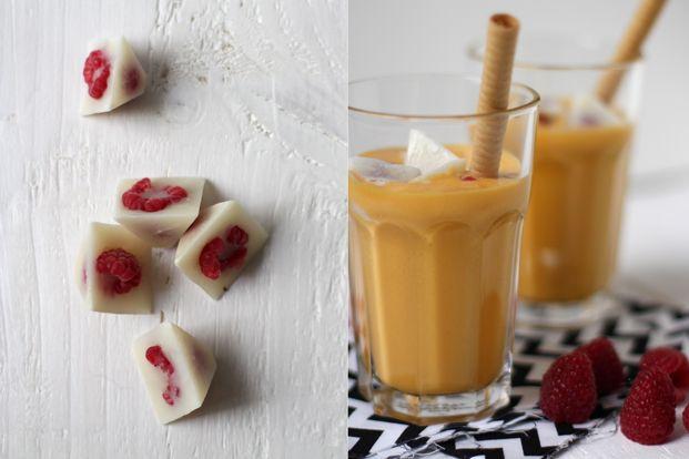 Lassi mangue - Glaçons de lait framboises - Mr -