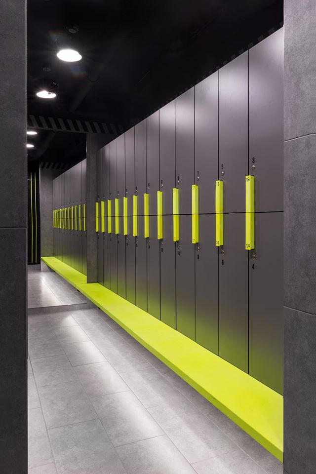 61 best interior design fitness gyms images on for Designer lockers
