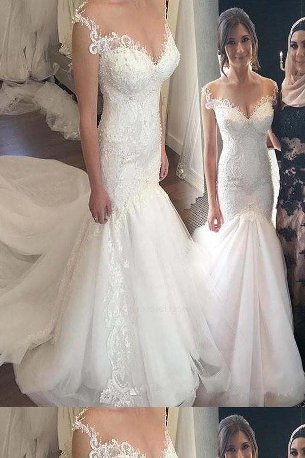 Vintage Wedding Dresses For Sale.Hot Sale Enticing Mermaid Wedding Dress Vintage Wedding Dress Lace