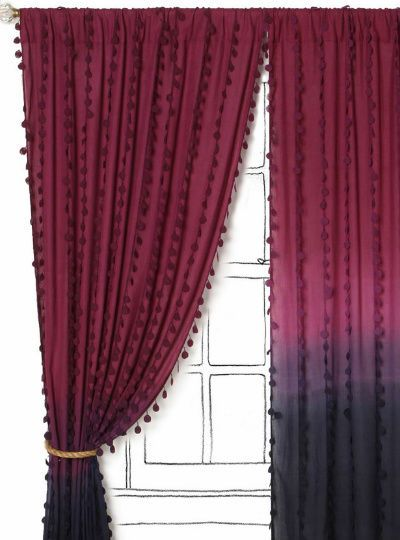 Elegant Crochet Paillettes On Ombre Curtain From Anthropologie Photo Gallery