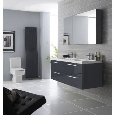 hudson reed quartet furniture pack high gloss grey rf035 bathroom vanity