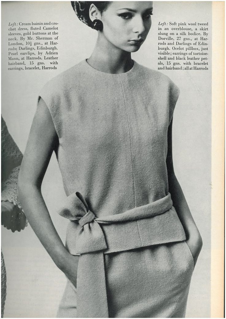Chrissie Shrimpton by Bailey. *I made an outfit like this, dark turquoise blue wool, no belt. BJ