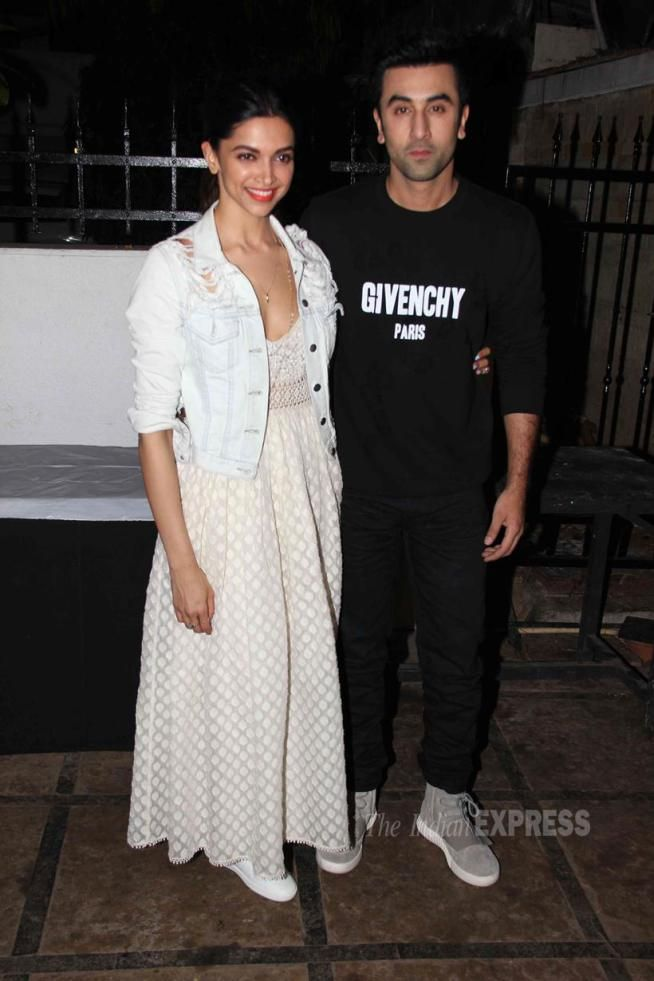 Deepika Padukone and Ranbir Kapoor at the Prithvi Theatre Festival. #Bollywood #Fashion #Style #Beauty #Handsome #Hot
