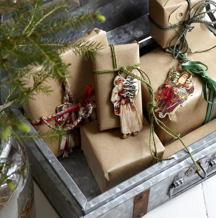 Jultomte - hängande tomte för din julgran - julpynt - julgranspynt