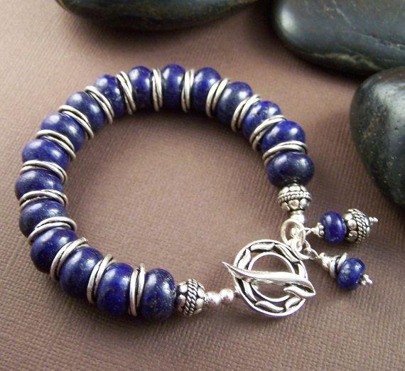 Don Lucas Lapis lazuli bracelet (great southwestern jewelry site)