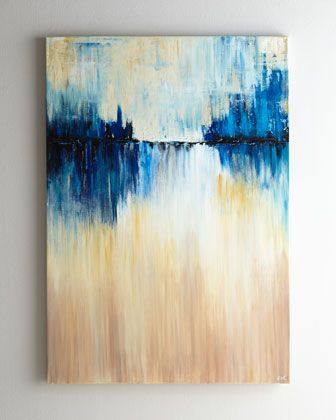 """Blue Mirage"" Abstract by Rosenbaum Fine Art"