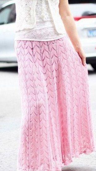 Связать длинную юбку pink crochet skirt pattern