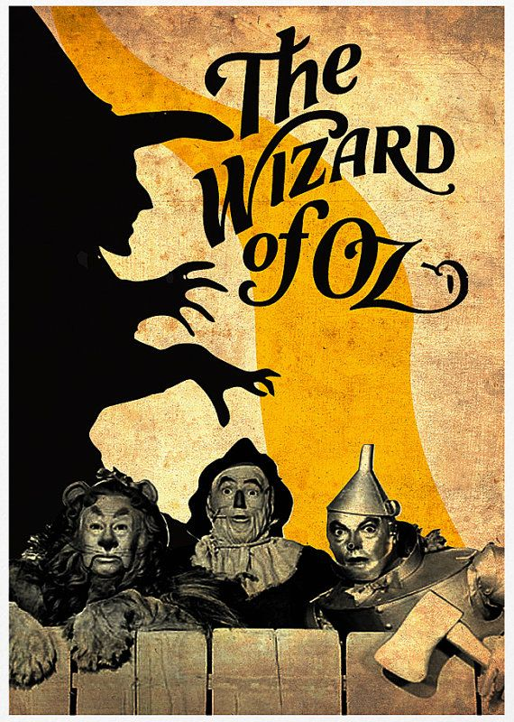 The Wizard of Oz Poster A3 Print by Posterinspired on Etsy