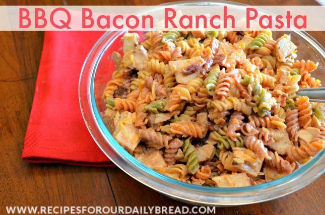 BBQ Bacon Ranch Chicken Pasta