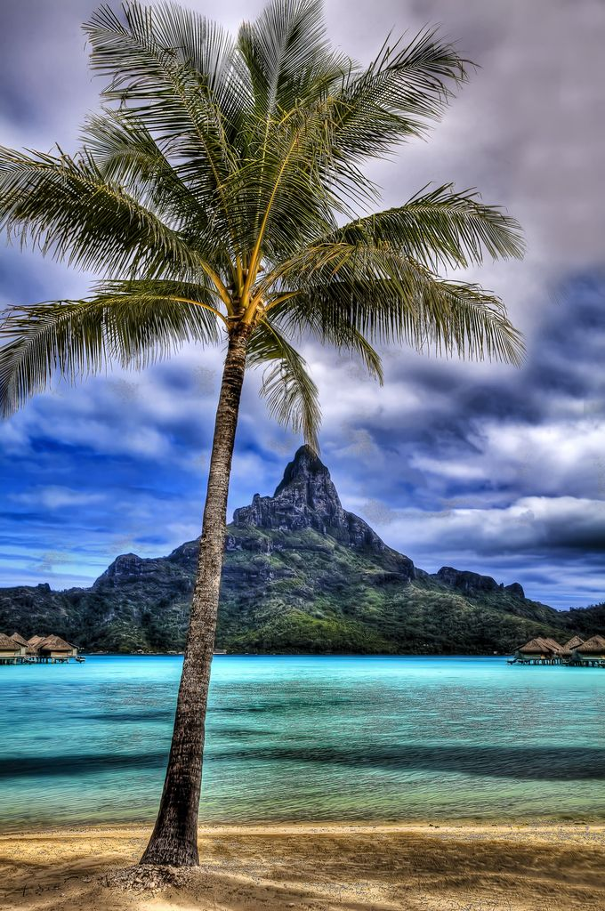 A view from the beach at the Intercontinental Thalasso Spa | Bora Bora