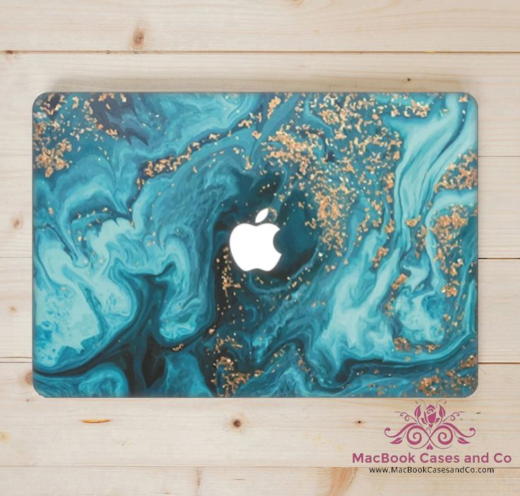 Marbled Wave MacBook Case. MacBook Case. Top (printed) and Bottom (clear) Hard Plastic MacBook Case by MacBookCasesandCo on Etsy
