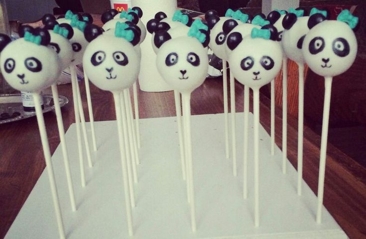 Panda Bear Cake Pops
