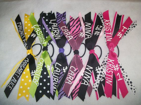 Ribbon Ponytail Holder Personalized with Basketball by nJOYnLife, $5.75