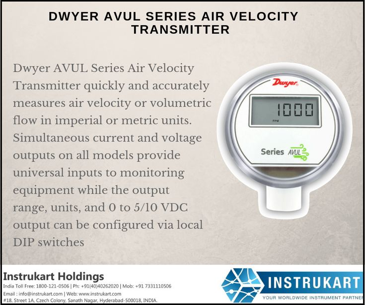 Dwyer avul series air velocity transmitter quickly and