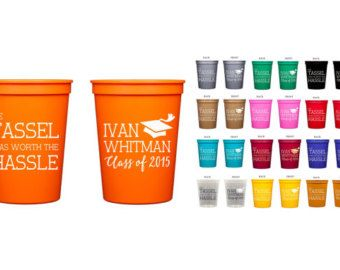 This listing includes 16 oz Personalized Stadium Cups This is by far our most popular cup! Our Stadium Cup comes in 20 colors and can be imprinted with your Monogram, Logo, Name, etc. Designing your own personalized stadium cups is a fun way to add personality to birthday parties, weddings, rehearsal dinners, family reunions, class reunions, corporate events, lake or beach house, sorority gifts, tailgating, everyday use, etc. Please keep in mind when ordering, the listed ounce is measured to…