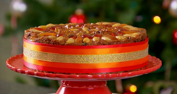 Mary Berry Christmas Genoa cake recipe The Great British Bake Off Christmas Masterclass