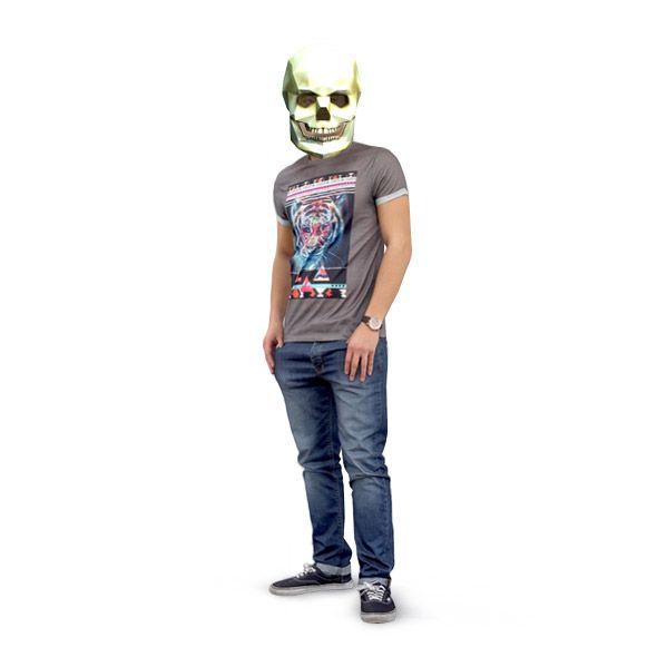 """Сделать 3d маску """"Череп"""" из"""